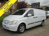 2011 11 MERCEDES-BENZ VITO 2.1 113CDI 136 BHP. SPORT STYLE. COLOUR CODED. DIESE