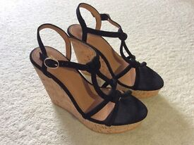Brand new black H&M wedges. Size 5.