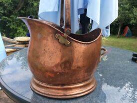Vintage Copper coal scuttle