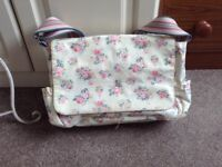 Cath kidson baby changing bag with changing mat.