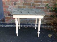 Shabby chic dressing table stool