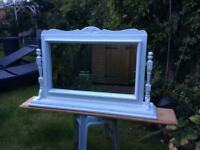 Large white dressing table mirror