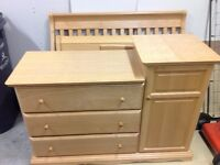 Crib to college and dresser set