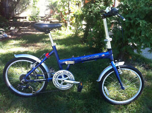 Folding Bike (KHS F20-A-Blue) (Excellent Condition)