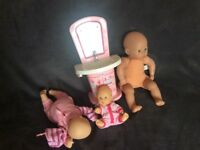 Baby dolls and baby born sink