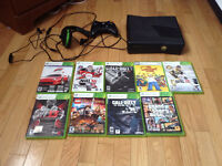Xbox 360 1 controller 1 headset 33 downloaded games and 10 other