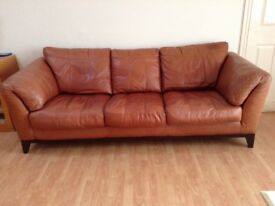 Leather Tan Sofa