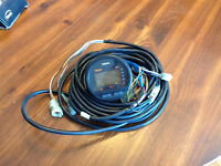 Yamaha Multi-Function outboard tachometer with wiring