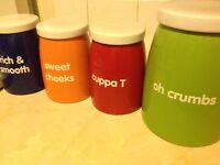 Tea, Coffee, Sugar & Biscuit Jars Set