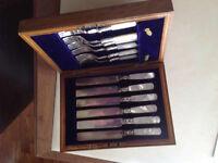 Set of 12pcs, Vintage fish knives/forks