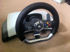 Steering wheel w/ pedals, and, flight stick for sale or trade