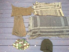 Army cammo scarfs