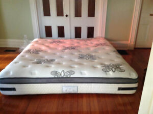King-sized  Mattress and Boxspring for sale