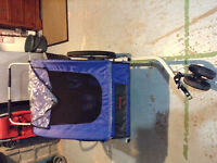 double bike stroller/bike trailer. perfect for winter