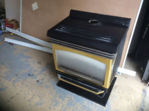 Gas fireplace wood stove
