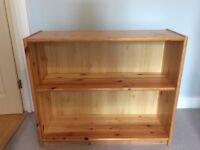 Pine shelving unit