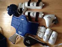 Children's Tae Kwon Do gear and kicking pad