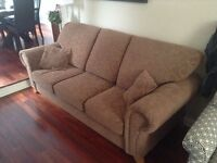 Love seat and triple seater couches