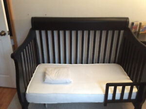 Bily Convertible Crib, mattress and matching dresser