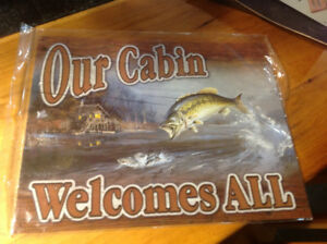 Signs for cottage or hunt camp.  Brand new, cute gifts.