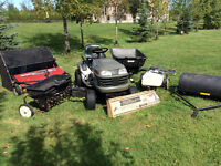 Lawn Tractor and complete lawn care accessories