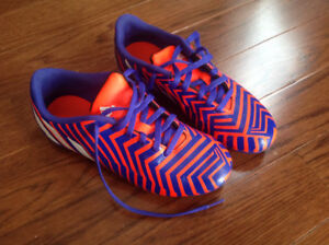 Size 3 adidas Messi, size 4 Adidas Predito outdoor soccer cleats