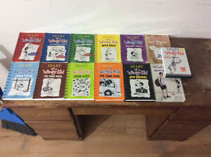 Entire collection of diary of a wimpy kid books and first movie