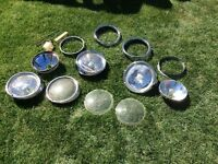 Job lot of vw rims, glass and lens