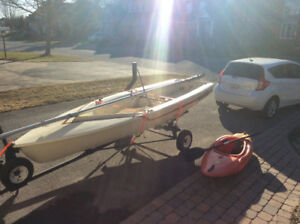 Sailboat and cayak for sale