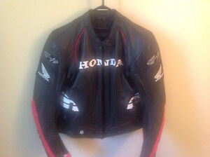 Black Leather Honda Motorcycle Jacket