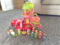 Happy land fairy house with hedgehog cart