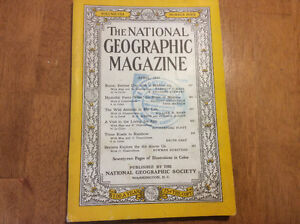 1957 National Geographic Magazine April Issue