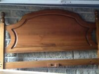 Double bed, wooden, good condition, all slats provided plus headboard