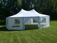 Backyard Party Tent - Outdoor Events, Tables, Chairs,Dance Floor