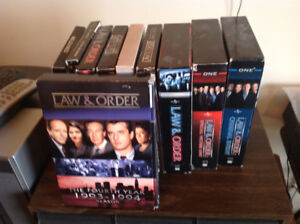 """Several sets of the """"Law and order"""" series, on a total of 37 dis"""