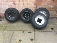YAMAHA RAPTOR 660 AND 700 TIRES GOOD CONDITION