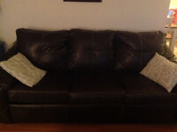4 piece faux leather set. Reduced