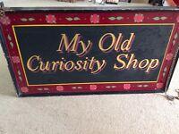 Vintage shop sign MY OLD CURIOSITY SHOP