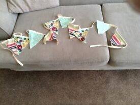Bunting and Cushion