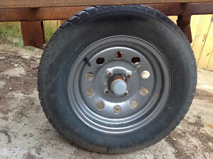 2000# trailer axle, tires, wheels (almost new)