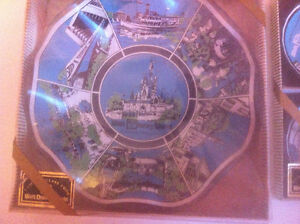 Walt Disney Coasters and Collector's Dish