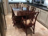 Lovely solid table and 6 chairs