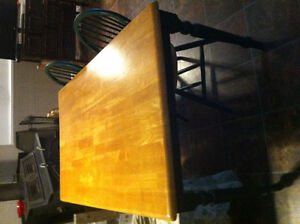 """Kitchen/Dining Table - 50"""" long plus two matching chairs."""