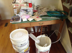 Large lot of Wine-making supplies - plus chokecherries!