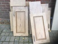 Wood effect kitchen unit doors and draw front