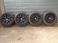 VW t5 transporter 19 alloy wheels with fitting kit Range Rover