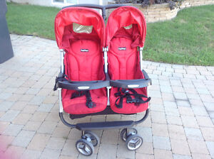 PegPerego red double stroller / poussette