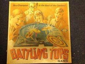 Battling tops 1968 vintage game