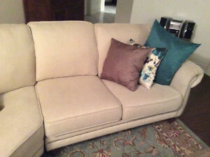 beige Canadian made sectional