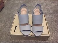 Next Powder Blue Heeled Sandals -size 5